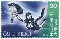 Østrig - Faldskærmudspring - Postfrisk frimærke