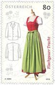 Autriche - Costume national Flachgauer - Timbre neuf