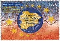 Frankrig - Europaråd - Postfrisk frimærke