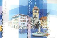 Schweiz - Naba udstillingsminiark - Stemplet miniark