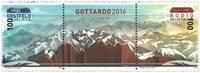Suisse - Inauguration du tunnel St Gotthard - Bande neuve 3v avec granite de la montagne