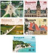Danmark - Unesco Verdensarv - Postfrisk sæt 5v