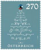 Autriche - Arbre de Noël avec cristal - Timbre neuf