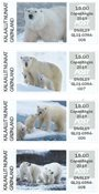 Greenland - Polar bears - Expo Copenhagen 2019 - Mint set of exhibition franking labels