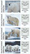Groenland - Ours polaires, Vignettes d'affranchissement 2019 - Surcharge Expo. de Copenhague 2019