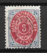 Danemark Antilles  - AFA 7By - Leimattu