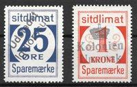 Grønland  - 25 øre + 1 kr - Stemplet