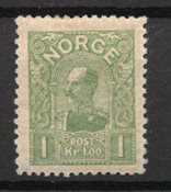 Norge 1907 - AFA 67 - Ustemplet
