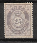 Norge 1877 - AFA 28 - Ustemplet