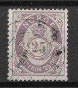 Norvège 1877 - AFA 28 - Oblitéré