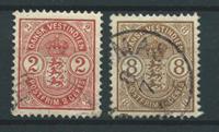 Danemark Antilles 1903 - AFA 22+23 - Leimattu