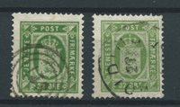 Danmark 1875 - Tj.  AFA 7+7a - Stemplet
