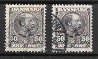 Danemark 1905 - AFA 50 + 50a - Oblitéré
