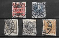 Danmark 1904 - AFA 47-51 - Stemplet