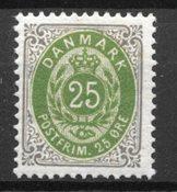 Danmark 1895 - AFA 29By - Ustemplet
