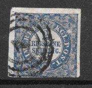 Danmark 1852 - AFA 2 b - Stemplet