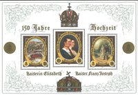 Autriche - Bloc-feuillet neuf avec impression dorée, 2004