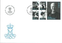 Denmark - Queen Margrethe 80 years - First day cover with stamp