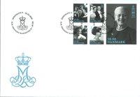Danemark - Reine Margrethe 80 ans - Env. 1er jour avec timbre
