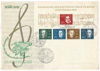 Tyskland 1959 - Michel Block 2 - FDC