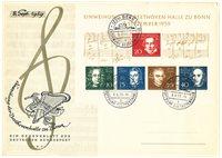 Tyskland 1959 - FDC m. Michel Blok 2
