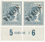 Tyskland/Berlin 1948 - Michel 5 - Postfrisk