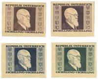 Østrig 1946 - Michel 772/775B - Postfrisk