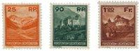 Liechtenstein 1933 - Michel 119/121 - Neuf avec charnières