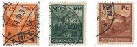 Liechtenstein 1933 - Michel 119/121 - Stemplet