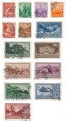 Liechtenstein 1934 - Michel 126/139 - Stemplet
