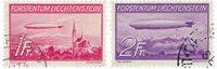 Liechtenstein 1936 - Michel 149/150 - Oblitéré