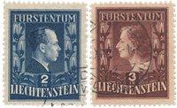 Liechtenstein 1951 - Michel 304/305A - Oblitéré