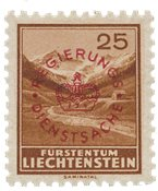 Liechtenstein 1934 - Michel D15a - Ubrugt