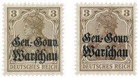 Tysk besættelse 1916 - Michel 7a+7b - Postfrisk