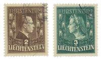 Liechtenstein 1944 - Michel 238/239 - Stemplet