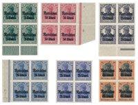 Tysk besættelse 1918 - Michel 8/12 - Postfrisk