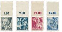 Tyskland Zoner 1947 - Michel 1+3+9+11 - Postfrisk