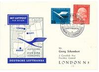 Allemagne 1954/1955 - Michel 202+207 - FFC