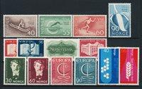 Norvège - Année complète 1966 - Neuf