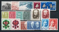 Norge - Årgang 1968 komplet - Postfrisk