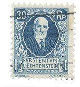 Liechtenstein 1925 - Michel 74 - Stemplet