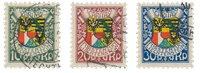 Liechtenstein 1927 - Michel 75/77 - Stemplet