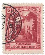 Liechtenstein 1930 - Michel 97 - Stemplet