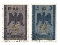 Liechtenstein 1956 - Michel 346/347 - Oblitéré