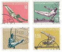 Liechtenstein 1957 - Michel 353/356 - Oblitéré