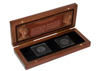 Rom og Konstantinopel - 2 bronzemønter fra Romerriget