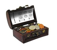 Treasure of coins - with 25 coins from 25 countries