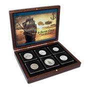 Collezione di navi mondiale - 6 monete d'argento con navi