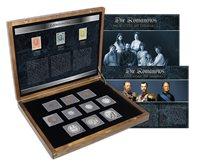 Rusland - Romanov Dyasty - 10 mønter (inkl. 6 i sølv) + 3 nødfrimærker
