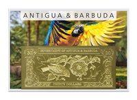 Antigua & Barbudes 30 dollars - Billet de banque dorée